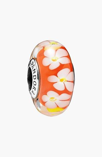 PANDORA 'Tropical Flower' Murano Glass Bead Charm available at #Nordstrom