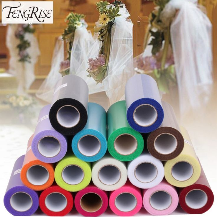 FENGRISE Baby Shower 15cm 25yds Tulle Roll Bridal Party Wedding Decoration Spool Tutu Birthday Gift Wrap Festive Event Supplies
