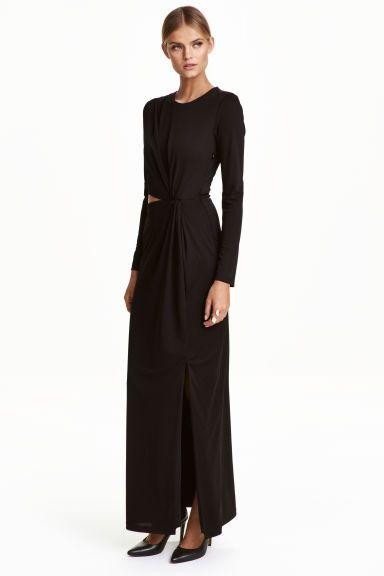 Vestido largo drapeado | H&M