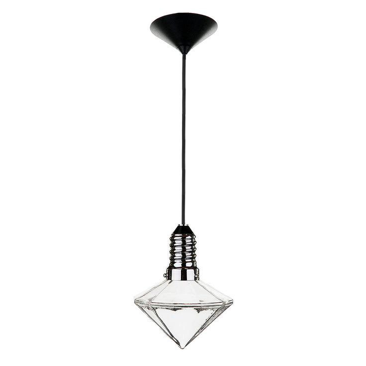 Kristal Diam 12/12 Glass Pendant, ,