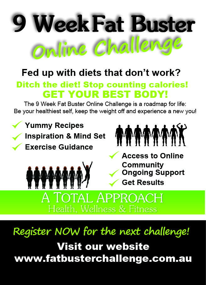 Join the challenge! 9 Week Fat Buster Challenge