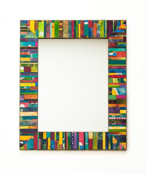 handmade paper wall mirror  https://www.etsy.com/listing/178944346 megbollinger.com
