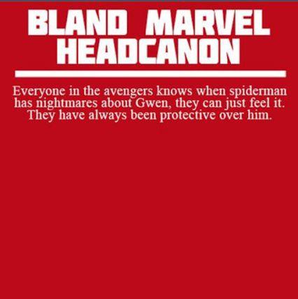 Bland Marvel Headcanon--Spiderman and Gwen