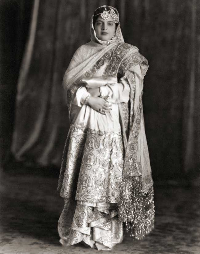 Portrait of Princess Rafat Zamani Begum of Rampur, c. 1960.