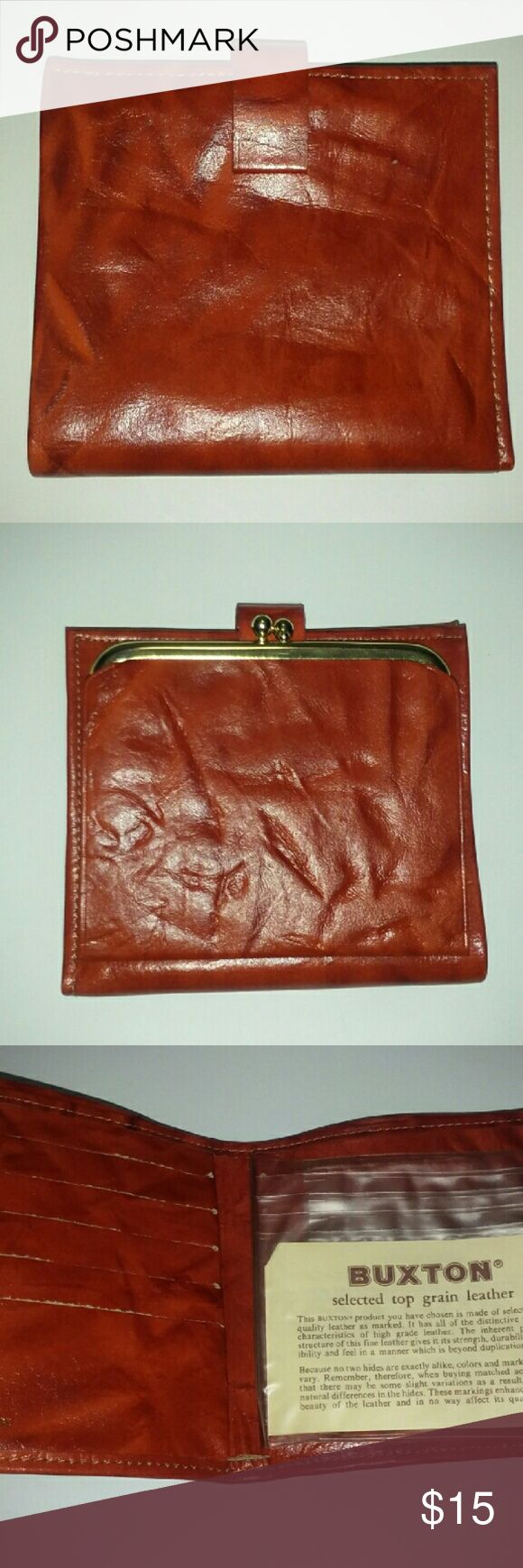 LEATHER BUXTON WALLET WITH COIN Buxton Top Grain Cowhide Leather wallet with coin holder Buxton Accessories