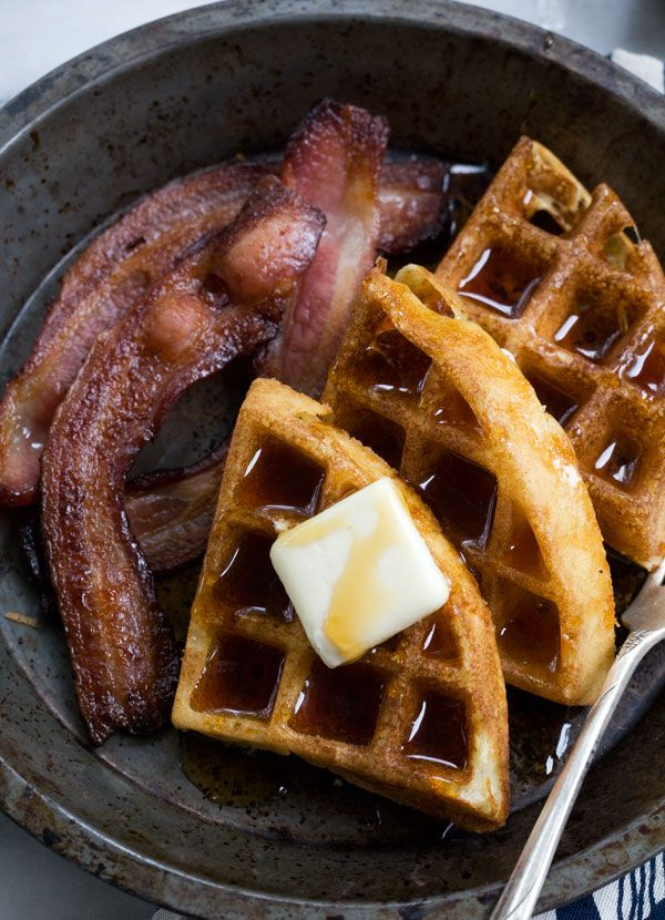 Syrupy waffles for your face!