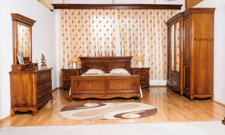 Mobila / Mobilier Dormitor Dominus clasic lemn cu intarsie