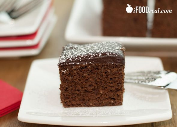 Protein Chocolate Cake Recipe - made with egg whites, applesauce, almond milk, black beans and protein powder