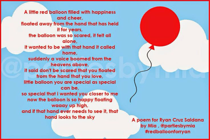 Poems About Balloons Related Keywords Suggestions Poems About