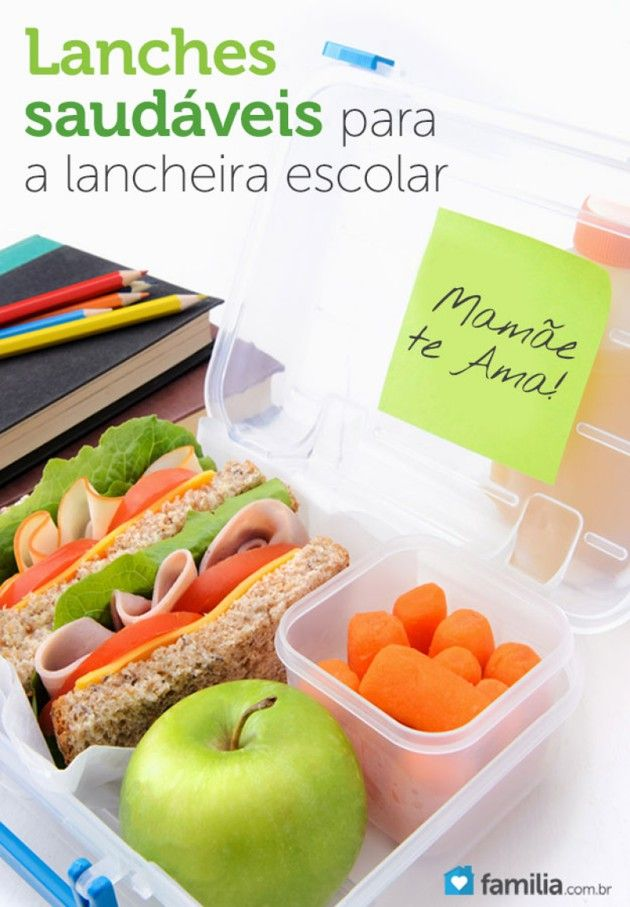 Lancheira saudável na escola reflete bons hábitos alimentares de casa. Saiba como variar o lanche da criançada.