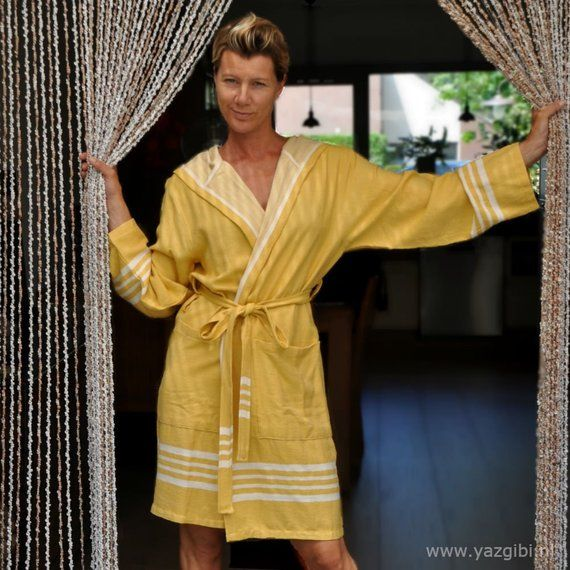 bathrobe yellow with in Comfortable hood 2019 hamam soft dBtroQshxC