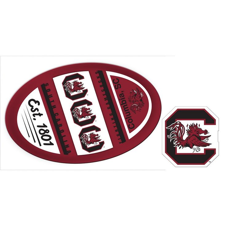 South Carolina Gamecocks Game Day Decal Set, Multicolor
