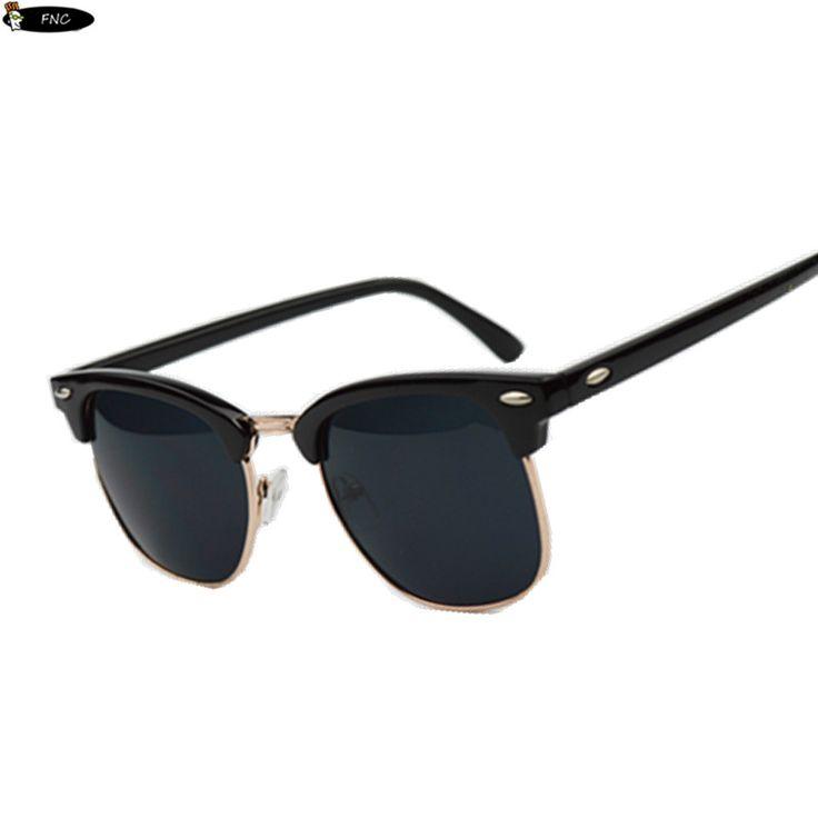 High Quality Half Metal Sunglasses Men Women Brand Designer Glasses Mirror Sun Glasses Fashion Gafas Oculos De Sol UV400 Classic *** Read more  at the image link.