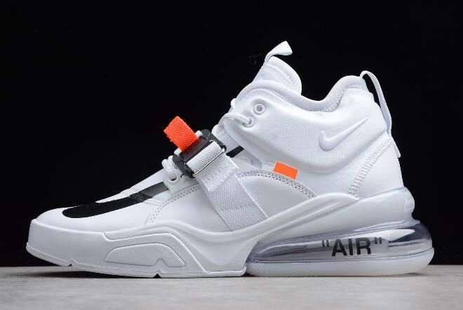 newest 8ba9b 3466f Mens Off-White x Nike Air Force 270 White/Black in 2019 | fashion ...