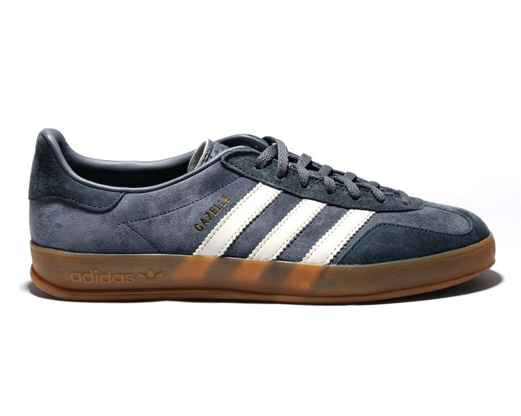 Adidas Gazelle Indoor Grey White Suede Trainers
