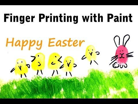Paint and Create Easter Eggs, Chickens and Easter Bunny by Finger Printing with Paint – FAS Paints - YouTube