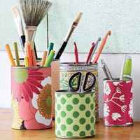 fabric or paper covered cans
