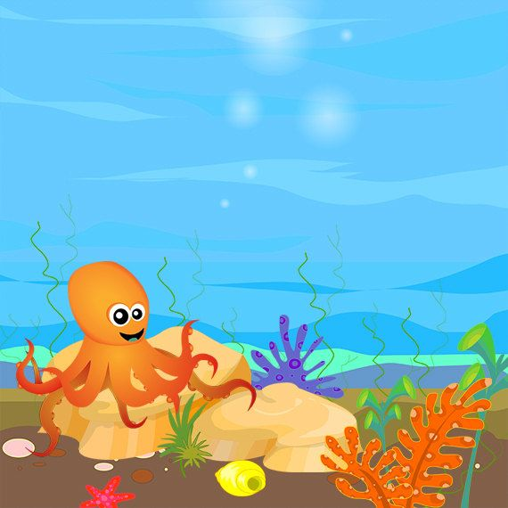 Under the sea clipart - Sea Creatures Clip Art - Ocean Animals Clip Art