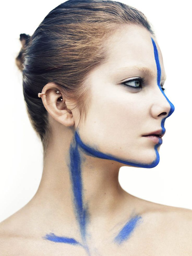 alignmentItalian Vogue, Greg Kadel, Cobalt Blue, Eniko Mihalik, Gregkadel, Vogueitalia, High Fashion Makeup, Face Painting, Beautiful Trends