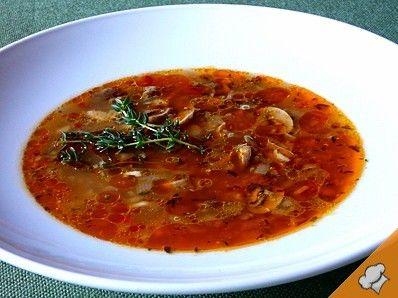 Сытный грибной суп