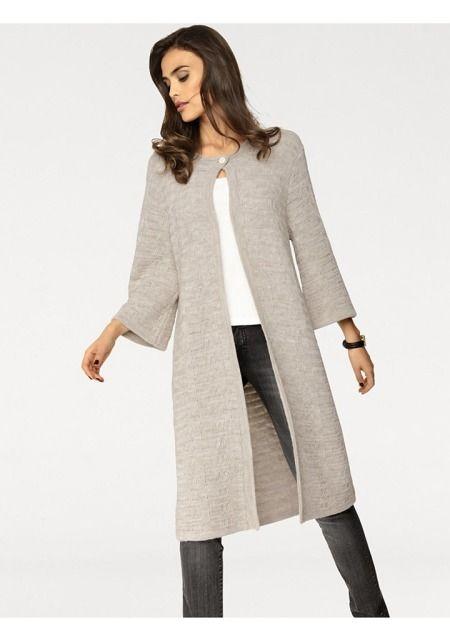 Трикотажное пальто цвет: бежевый арт: 47609263 купить в Интернет магазине Quelle…