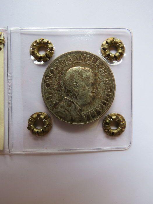 Catawiki, pagina di aste on line  Italia, Regno - 2 lire 1910 Vittorio Emanuele III - argento