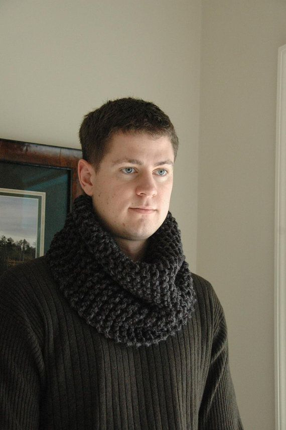 Men's Scarf Chunky Cowl