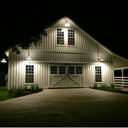 Joanna and Chip Gaines' farm at night