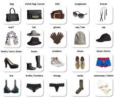 Clothes and accessories - English Vocabulary