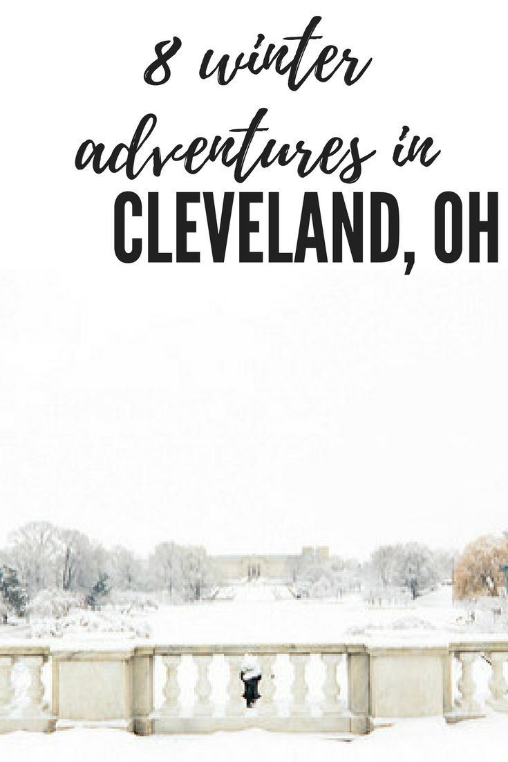 There's plenty of adventures to be found in Cleveland, Ohio. From snowshoeing to skating and tobogganing. Take a look!