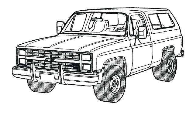 Car And Truck Coloring Sheets Portraits