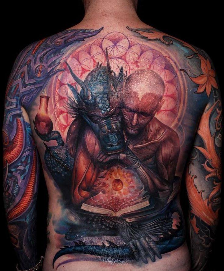 Full Back Spiritual Tattoo