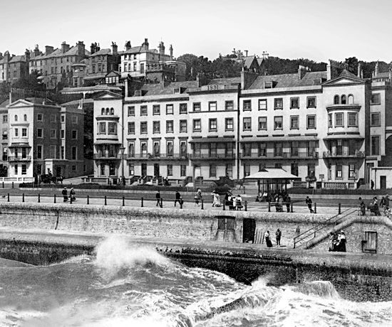 St. Leonards on Sea, 1890s, taken from the pier