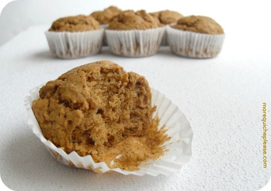 Butternut squash muffins (leftover baby food muffins)