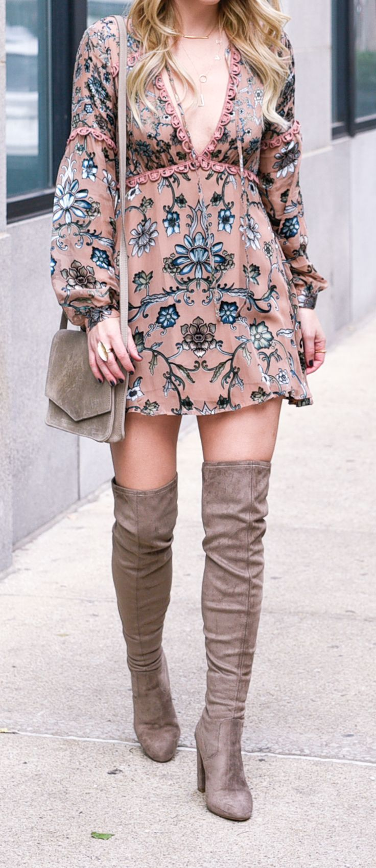 For Love & Lemons floral dress