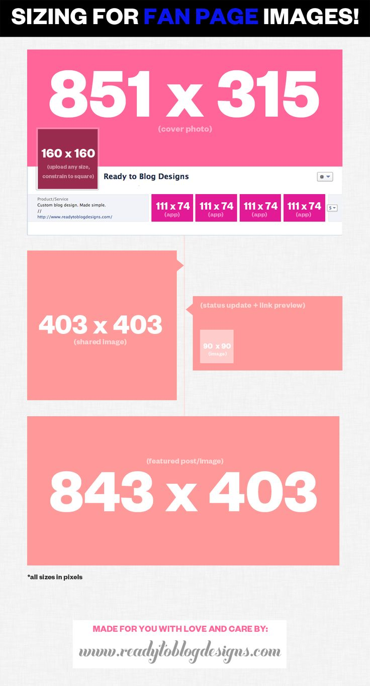 Ready to Blog // Custom Blog Design + Templates: image sizes for facebook!