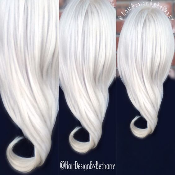 White Icy Blonde Hair Color Elsa Frozen Hair Style