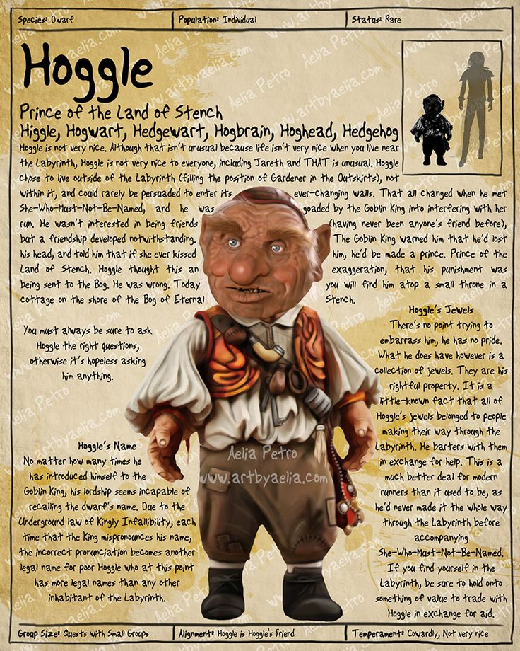 Labyrinth Guide - Hoggle by Chaotica-I on DeviantArt