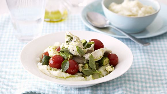 Foiled-Baked Chicken Fillets with Tomatoes and Feta