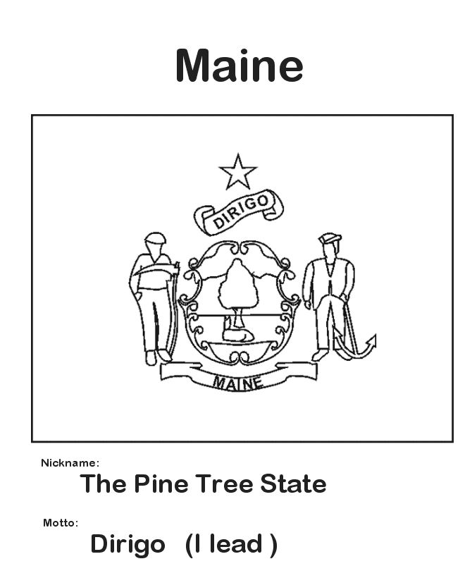 coloring pages for maine - photo#14