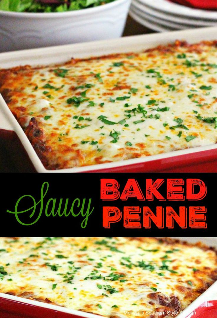 Saucy Baked Penne Pasta - melissassouthernstylekitchen.com