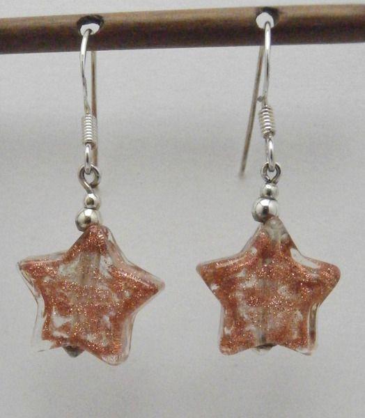 EARRINGS IN SILVER AND MURANO GLASS from NAUTA by DaWanda.com