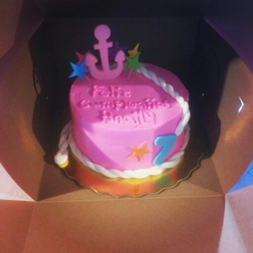 Bizcocho de ancla para niñas   Sweet Cakes by Mariely   Pinterest