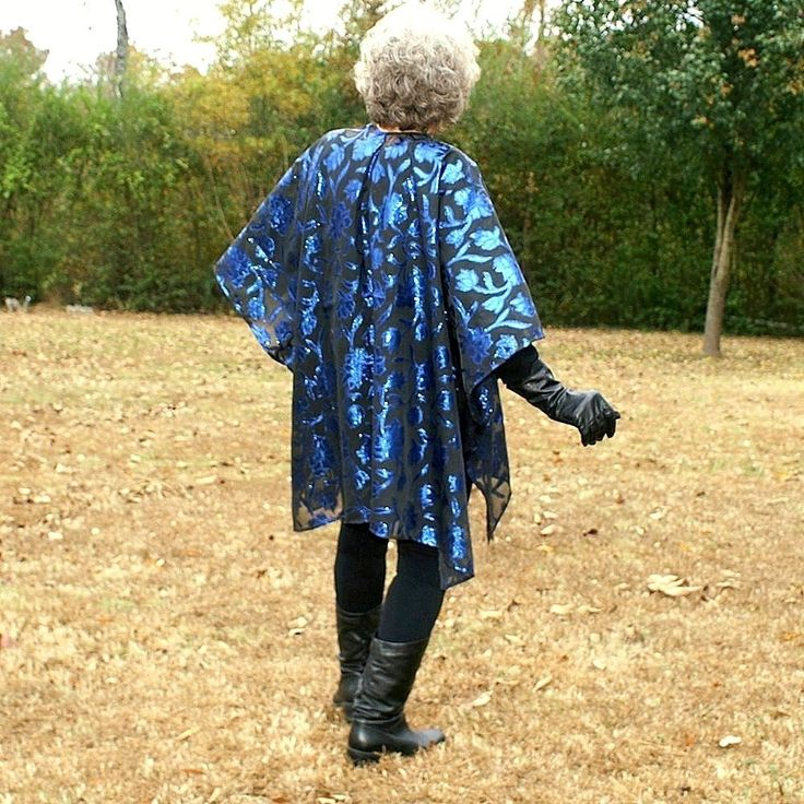 Party  Wrap, Shawl, Coverup, Cape, Kimono, Caftan or Ruana--Sheer Black Blue Sparkle Polyester--One Size Fits Most Gypsies by YoungbearDesigns on Etsy