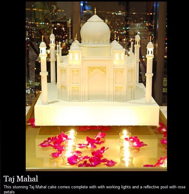 Taj mahal theme wedding