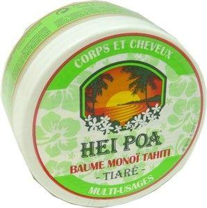 Le baume Monoï Tahiti Hei Poa, le secret de beauté venu de Polynésie pour sublimer la peau et les cheveux.