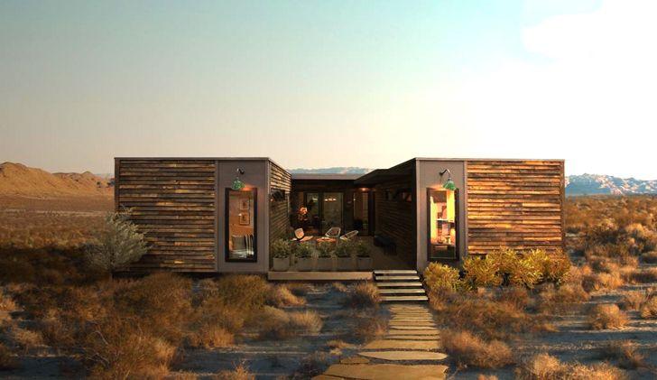 Joshua Tree ranch with LivingHomes' zero energy prefab home is now on sale