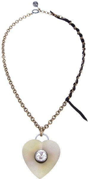 LANVIN Heart Pendant Necklace - Lyst
