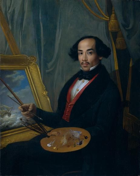 Self portrait of 19th c. Javanese painter Raden Saleh