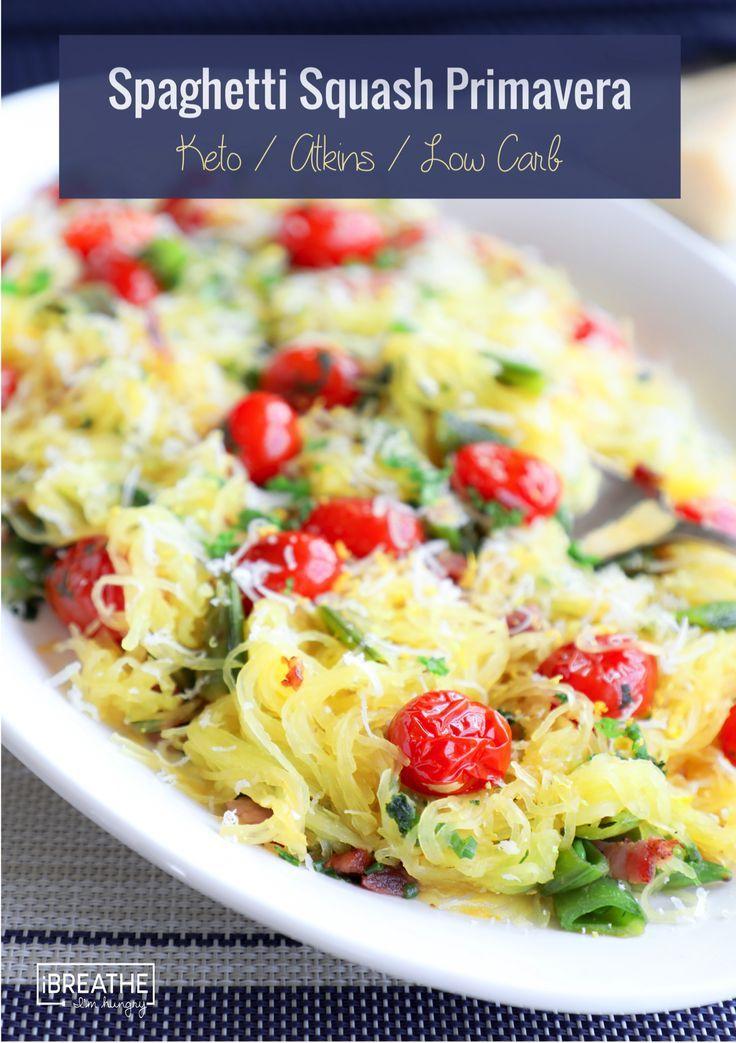Keto Spaghetti Squash Primavera - Low Carb | Recipe | Keto Low Carb LCHF | Spaghetti squash ...